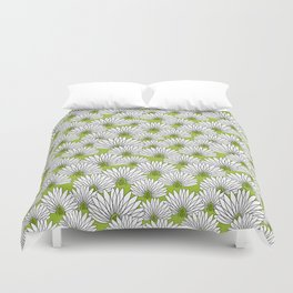 flowers on greenery Duvet Cover