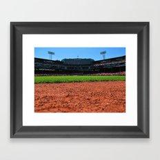 From Centerfield - Boston Fenway Park, Red Sox Framed Art Print