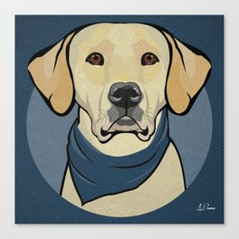 Icons of the Dog Park: Yellow Labrador Design in Bold Colors for Pet Lovers Canvas Print
