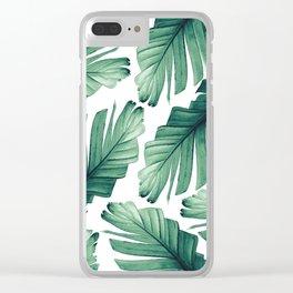 Tropical Banana Leaves Dream #3 #foliage #decor #art #society6 Clear iPhone Case