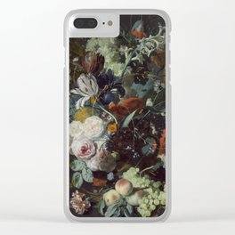 Jan van Huysum Still Life with Flowers and Fruit Clear iPhone Case