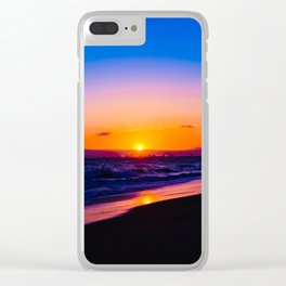 outstanding sunset Clear iPhone Case