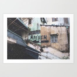 Mayhem - Ho Chi Minh City Art Print