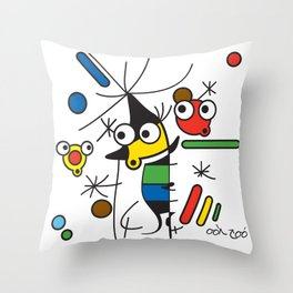 Ooh Zoo – art-series, Miro Throw Pillow