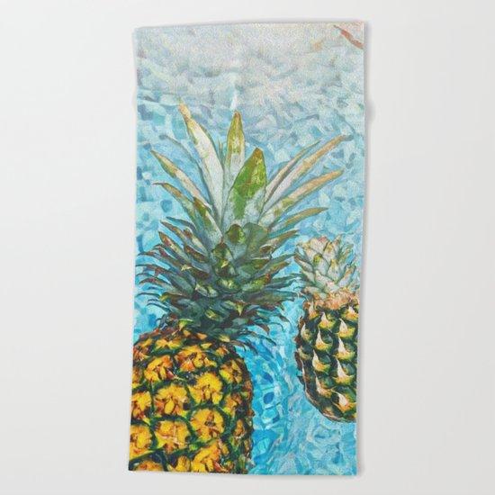 Be a Pinapple V2 #society6 #decor #buyart Beach Towel