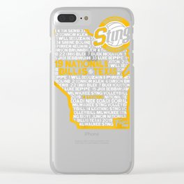 Sting 14 Lightning Team T-Shirt Clear iPhone Case