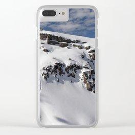 Ski Slopes Clear iPhone Case
