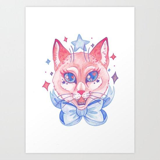 Kawaii Kitty Art Print