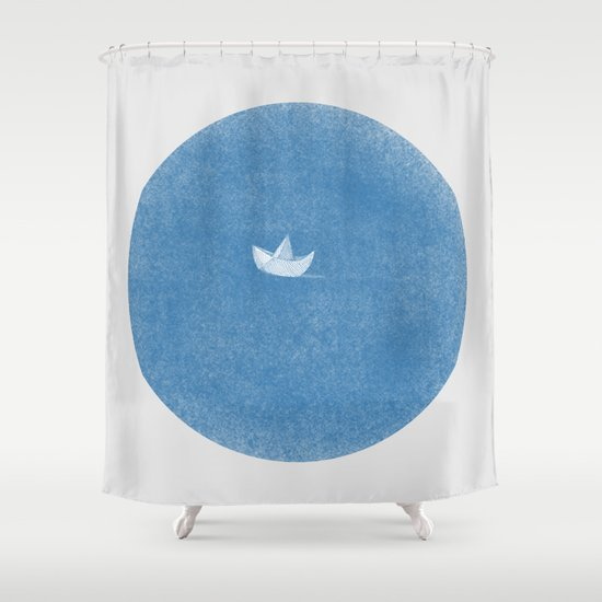 into the sea Shower Curtain
