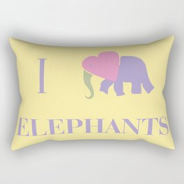 I Heart Elephants Rectangular Pillow