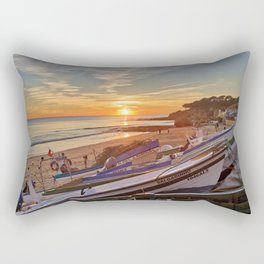 Olhos d'Agua sunset, Algarve Rectangular Pillow