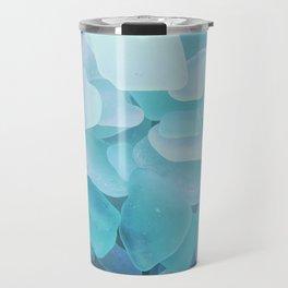 Beach Glass, assorted blues Travel Mug