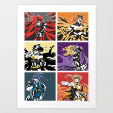 Gotham Battles: Ladies Art Print