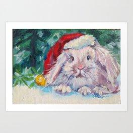Jingle Bunny Art Print