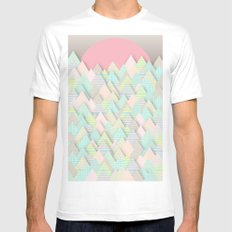 Forest Pastel Mens Fitted Tee White MEDIUM