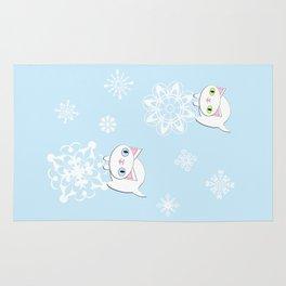 Feline Snowflake Pals Rug