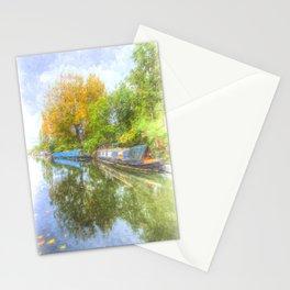 Narrow Boat Art Scene Stationery Cards