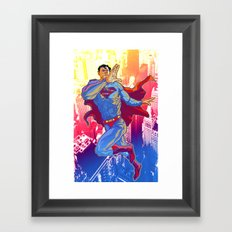 Hometown Hero Framed Art Print