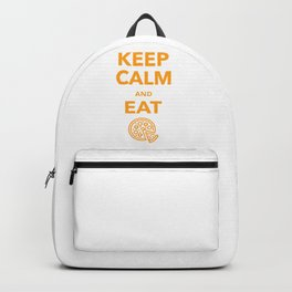 Keep Calm and eat Pizza Backpack