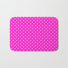 Dots (White/Hot Magenta) Bath Mat