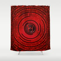 lantern Shower Curtains featuring RED LANTERN by BeautyArtGalery