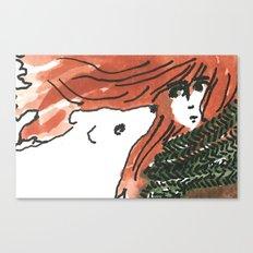 Windy, isn't it, bear? Canvas Print