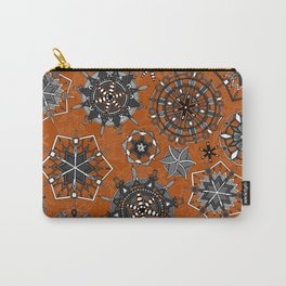 mandala snowflakes orange Carry-All Pouch