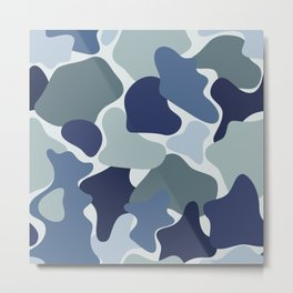 Abstract camouflage pattern Metal Print