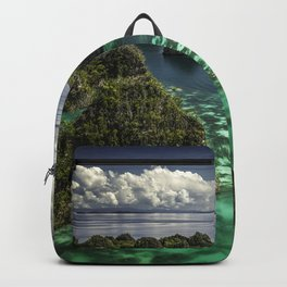 Transparent Emerald Waters and Pianoemo Island, Indonesia Photograph Backpack