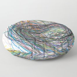 Whirlwind Colored Pencils Floor Pillow