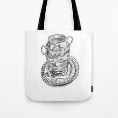 Stacked Tea Cups Tote Bag