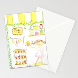 cupcakes shop Stationery Cards