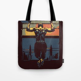 Pull ups at the gym - crossfit Tote Bag