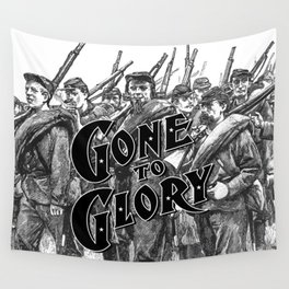 Gone To Glory B&W Wall Tapestry