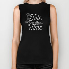 Tale As Old As Time - Beauty and the Beast (gold) Biker Tank