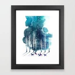 Winter Night 2 Framed Art Print