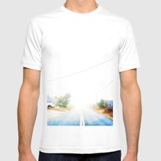 Walk the line Mens Fitted Tee White SMALL