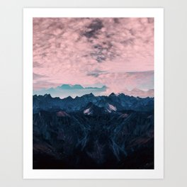 Pastel mountain mood Art Print