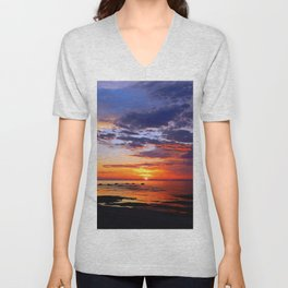 Between Sky and Earth Unisex V-Neck