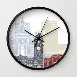 Rijeka skyline poster Wall Clock