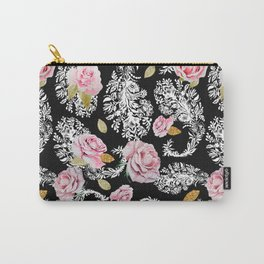 Flowering roses in the paisley Carry-All Pouch