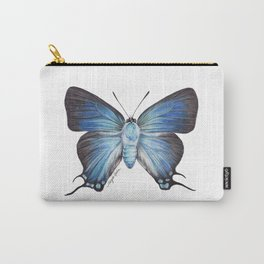 Butterfly - The Great Purple Hairstreak - ATLIDES HALESUS by Magda Opoka Carry-All Pouch