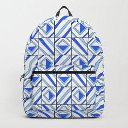 symetric tartan and gingham 13 -vichy, gingham,strip,square,geometric, sober,tartan Backpack