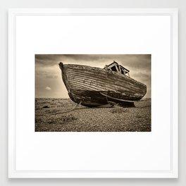 Decaying Fishing Boat Framed Art Print