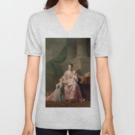 Allan Ramsay - Queen Charlotte with her Two Eldest Sons (1764) Unisex V-Neck