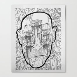 Sad dude (Black and white) Canvas Print