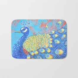 Peacock: Grace Under Fire Bath Mat