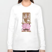 hats Long Sleeve T-shirts featuring Tall Hats by Lucy Irving