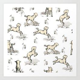 Little Sheep pattern Art Print