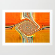 Abstract.Orange+Lemon. Art Print
